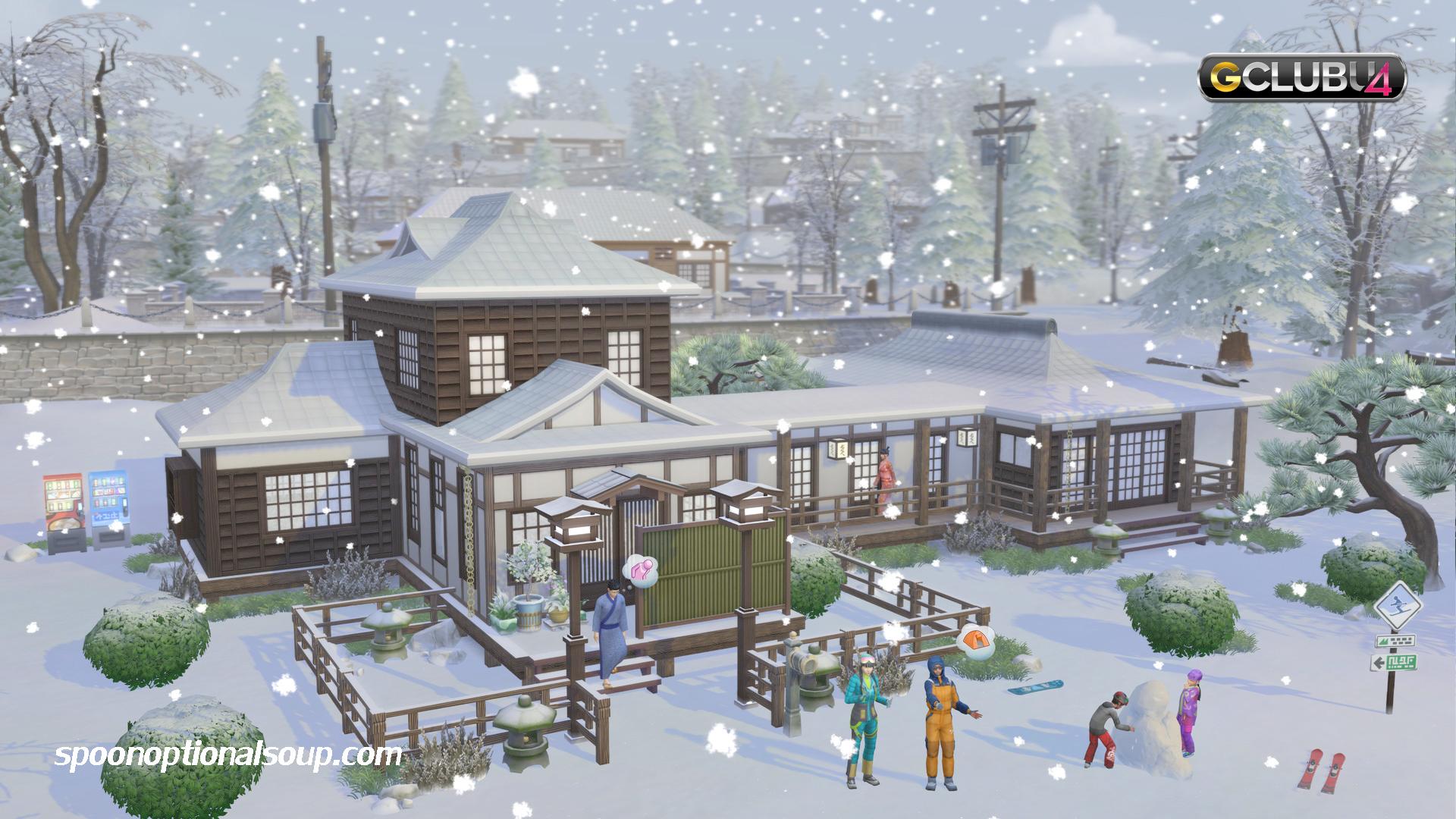 Snowy Escape The Sims